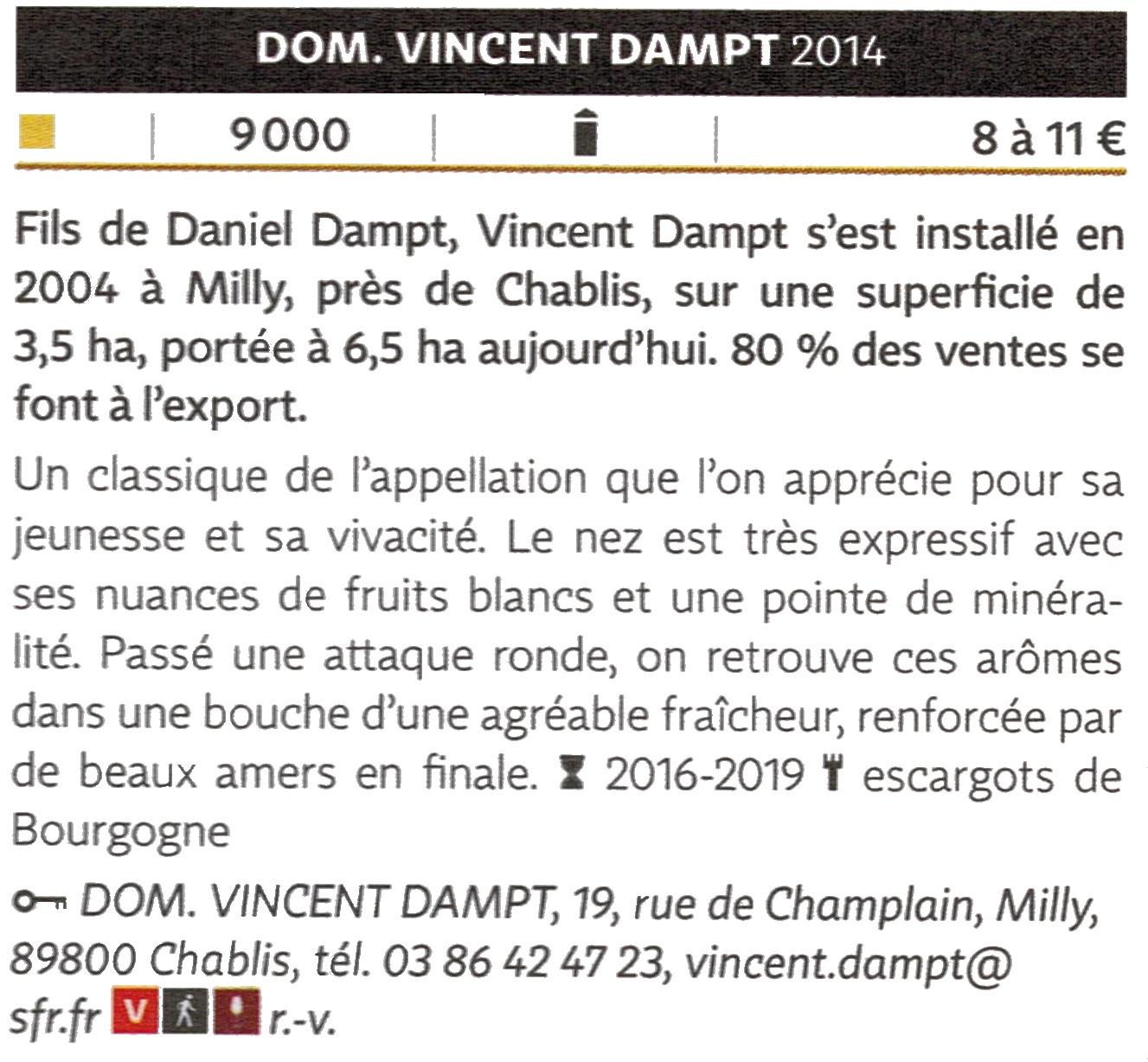 Petit Chablis 2014 - Domaine Vincent Dampt